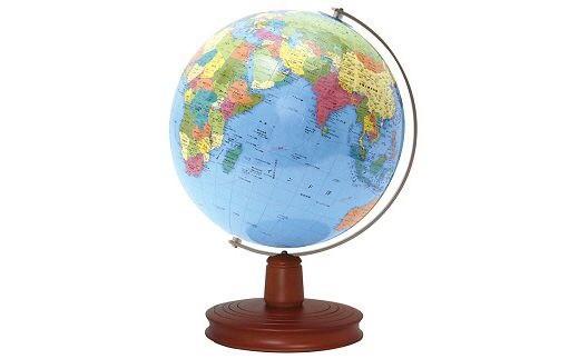 D-004 ~世界をながめて好奇心を広げる~卓上地球儀WB行政木台