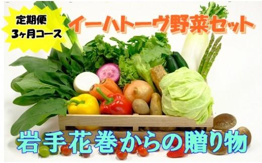 【定期便3ヶ月コース】イーハトーヴ野菜セット 【293】