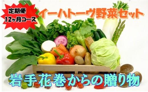 【定期便12ヶ月コース】イーハトーヴ野菜セット 【295】