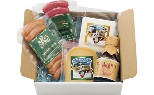 ハウステンボスで一番人気のクリームチーズ、本場オランダのゴーダチーズ、定番のあらびきウインナーなどのセット