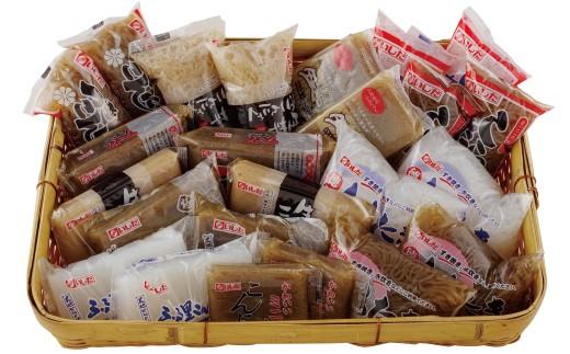 伝統製法による、生芋板蒟蒻、生芋糸蒟蒻は生蒟蒻芋100%