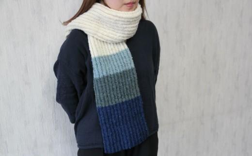 [C-15]焼尻めん羊100%使用 手編みマフラー