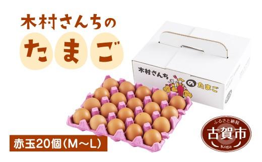 J3201 木村さんちのたまご 赤玉 20個 (M~L)