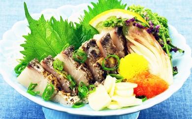 [№5941-0302]しっとり柔らかな身と、炙った皮の風味が絶品!日本海の高級魚サワラたたき半身フィーレ約350g(3~4人前)