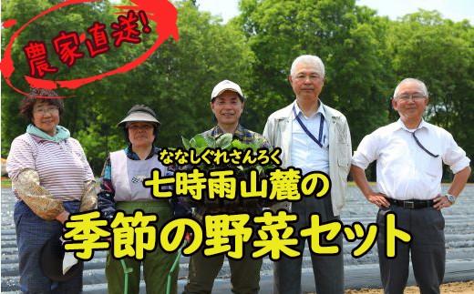 HMG077 【農家直送】七時雨山麓の季節の野菜セット