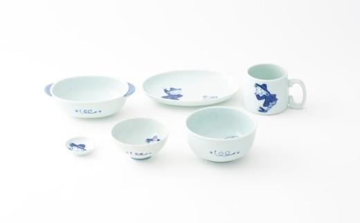 有田焼/しん窯/紅毛人子供用食器フルセット