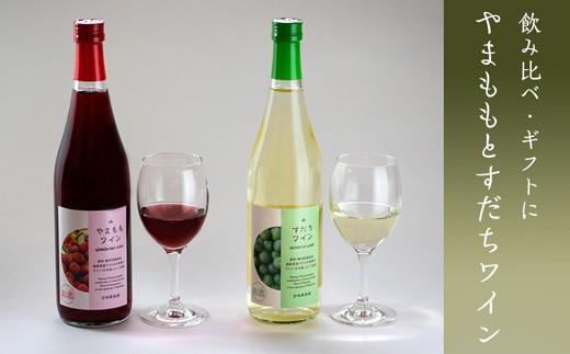 [№5852-0233]すだちワイン・やまももワイン飲み比べセット