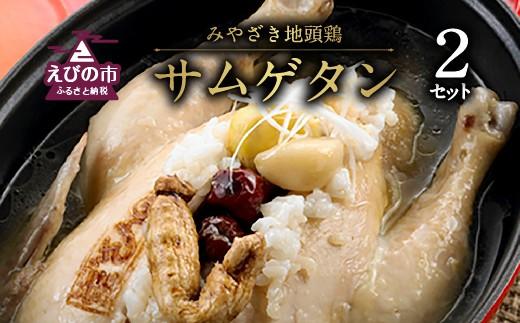 みやざき地頭鶏サムゲタン【1.2kg以上】2セット
