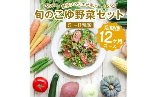野菜ソムリエが選ぶ<旬のこゆ野菜セット 12ヵ月定期便>【D17】