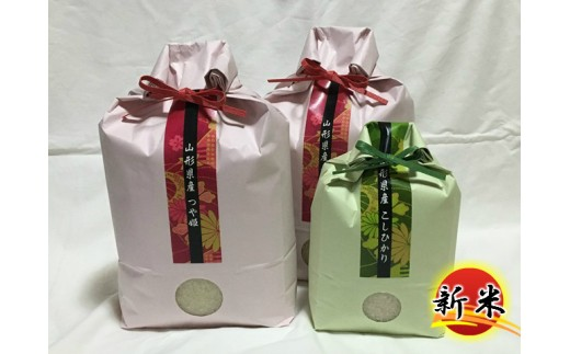 B30-009 特別栽培米つや姫(10kg)・コシヒカリ(2kg)セット