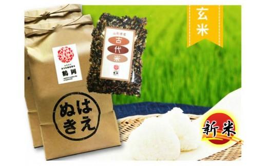 B30-004 特別栽培米はえぬき玄米(10kg)・古代米(300g)