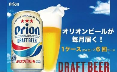 【毎月お届け定期便/全6回】オリオン ドラフトビール 350ml缶1ケース(24缶)