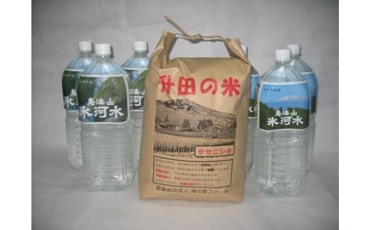 NA421 平成30年産米 升田の米 ササニシキ5kgと鳥海山氷河水 TA