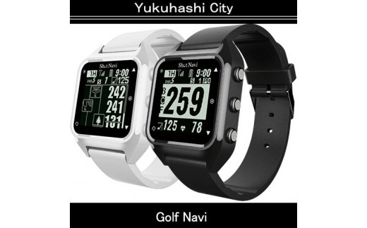 (1602)腕時計型ゴルフナビShot Navi HuG:カラー/ブラック/ホワイト