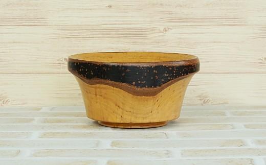 [№5725-0095]黒もんじゅ 小物入れ 木の器 木製 クロモジ