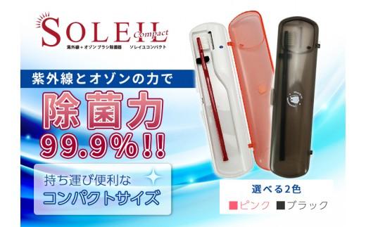 C-94.【紫外線+オゾン】歯ブラシ除菌乾燥器「ソレイユ」携帯タイプ(選べる2色)