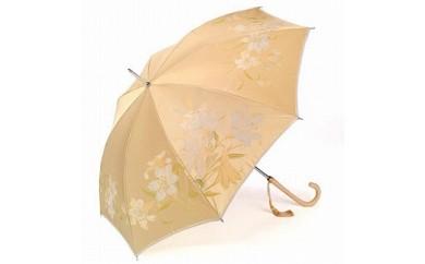 絵おり晴雨兼用長傘 百合:ベージュ