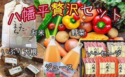 HMG289 八幡平市尽くし!米・野菜・ジュース・肉・漬物の贅沢セット