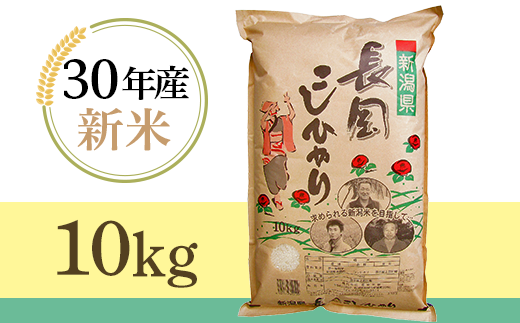 【H30年産】新潟長岡産コシヒカリ10kg