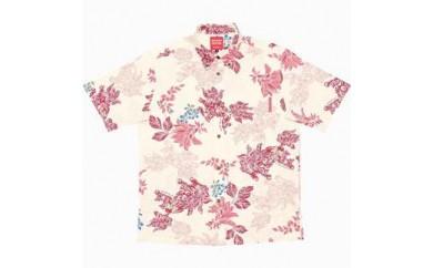 ぐすーじシーサー「メンズ【M】:オフレッド」(ボタンダウンシャツ)