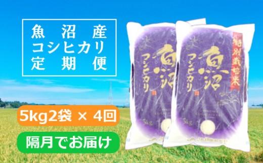 魚沼産コシヒカリ特別栽培米定期便5kg2袋×4回/隔月でお届け