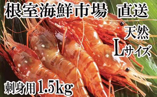 CB-60003 根室海鮮市場<直送>お刺身用ぼたんえび500g×3P