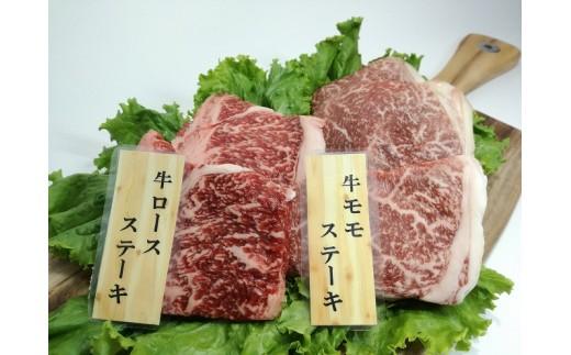 MK-2601_都城産宮崎牛 霜降りVS赤身 ステーキ食べ比べセット