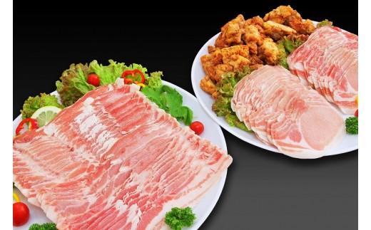 MK-4404_都城産「きなこ豚」しゃぶセット&九州産若鶏ジューシーから揚げセット