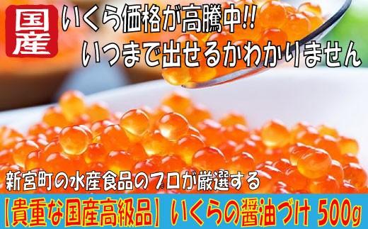 YB29.【貴重な国産高級品】いくらの醤油づけ 500g