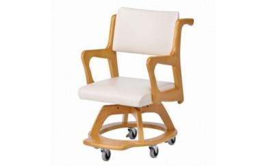ありそうでなかった室内用木製車椅子~Care-WC-301-IN~(アイボリー)