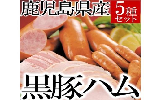 A-017 鹿児島県産黒豚ハム・ウィンナー5種セット