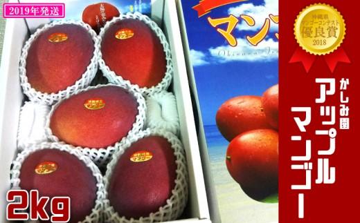 """【2019年発送】""""優良賞受賞""""のかしみ園アップルマンゴー2kg"""
