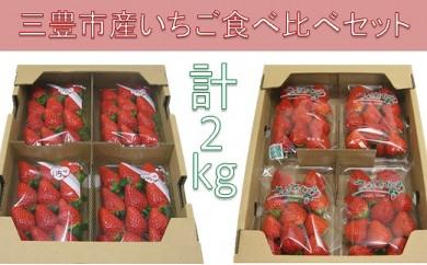 【2018年内発送】三豊市産いちご食べ比べセット 約2kg