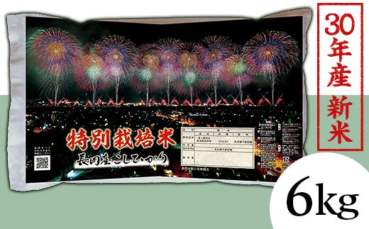 1-426【H30年産】新潟県長岡産コシヒカリ(特別栽培米)6kg