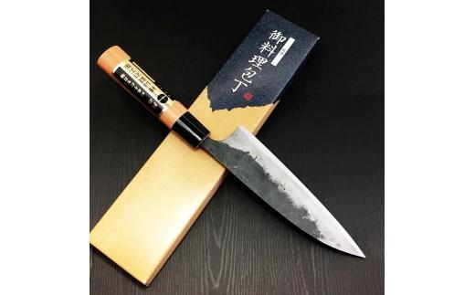 B-520 樺山鍛治工場の包丁(菜切り、桜柄、165mm)