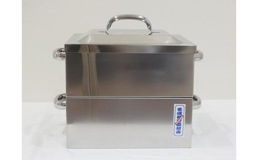 1804029 IH対応業務用角蒸し器1段30cm (蒸し布付)