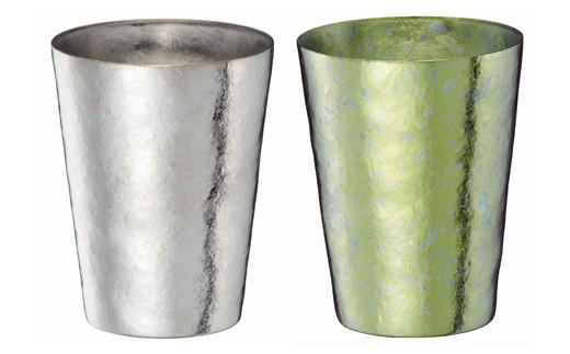 1810020 SUSgallery タイタネスタンブラー マルティプルカップ(S)ペアセット (Mirror & Lime Green)