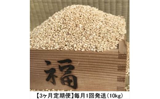 AG-16 【3ヶ月定期便】減農薬あきたこまち 10㎏×3ヶ月(玄米)