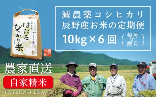 70-94 ほたるぴっかり米 定期便(10kg×6回)