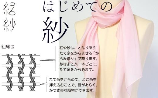 【I-68】【絽紗】はじめての紗 シルク100% さわやか色無地ストール