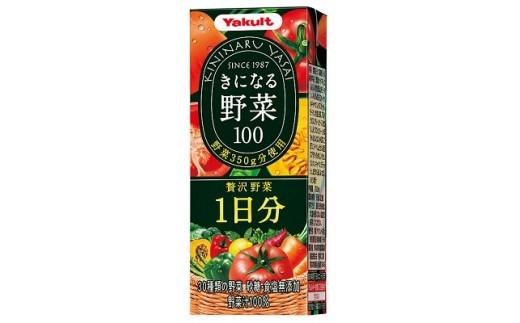 ヤクルト「きになる野菜100(贅沢野菜)」12パック×2箱