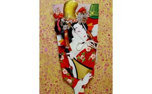 女物10号(約30cm)押絵羽子板 飾り台付【1035969】