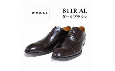 REGAL リーガル(ダークブラウン) エレガントに仕上げたストレートチップ 811R AL(サイズ:24.5~27.0)【バリエーションBR78f-BR78k-V】