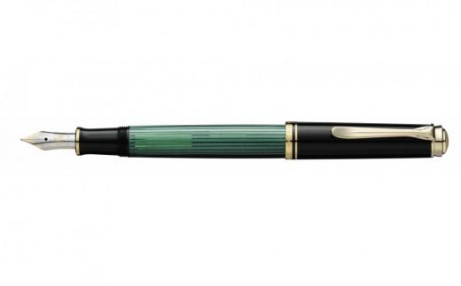 【J-028-2】ペリカン万年筆スーベレーン M400 と一筆箋セットD:グリーン