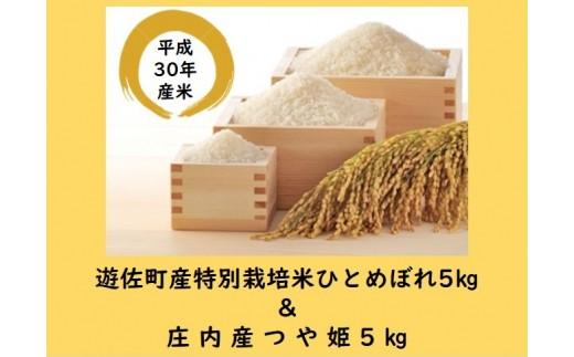 244M 遊佐町産特別栽培米ひとめぼれ5kg&庄内産つや姫5kg