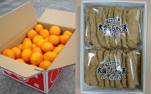 A01-712 温州みかん(5kg)とじゃこ天(16枚)のセット【11月~12月お届け】