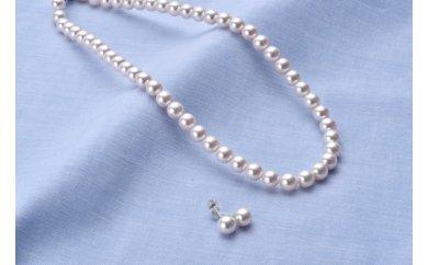 アコヤ真珠ネックレス・ピアスセット(7.5ミリ珠)