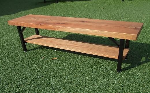 JAG-1.【やさしい手作り家具】吉野杉の一枚板のベンチ