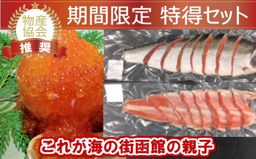 紅鮭姿切身&いくら醤油漬セット[4614153]
