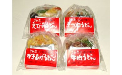 4種の具材が楽しめる冷凍調理うどん4食セット
